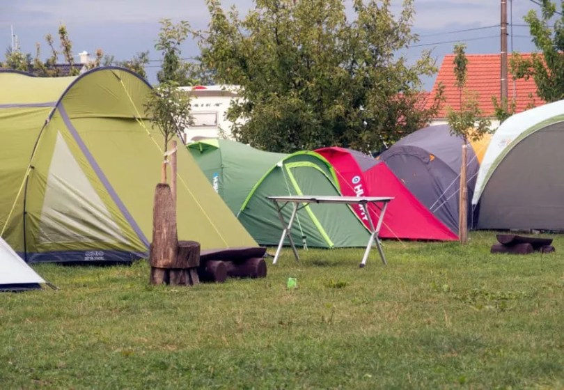 colorful camping tents