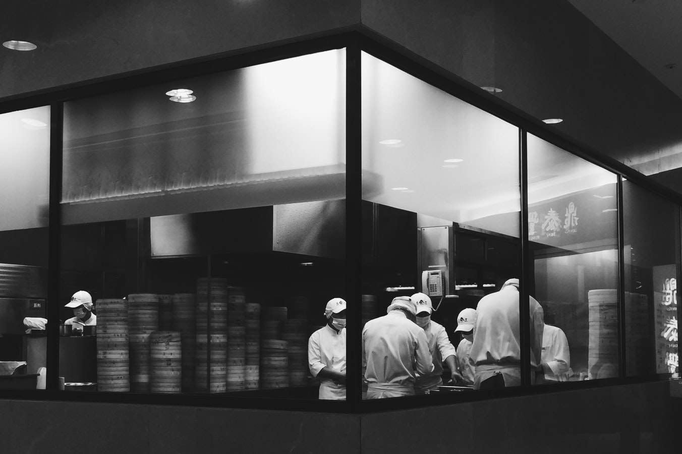 Dark kitchen