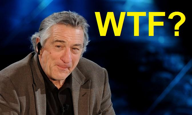 Robert De Niro a Sanremo che pensa WTF what the fuck