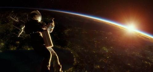 Scena dell'estintore dal film Gravity