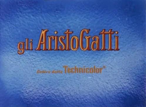 Titolazione italiana del film Gli Aristogatti