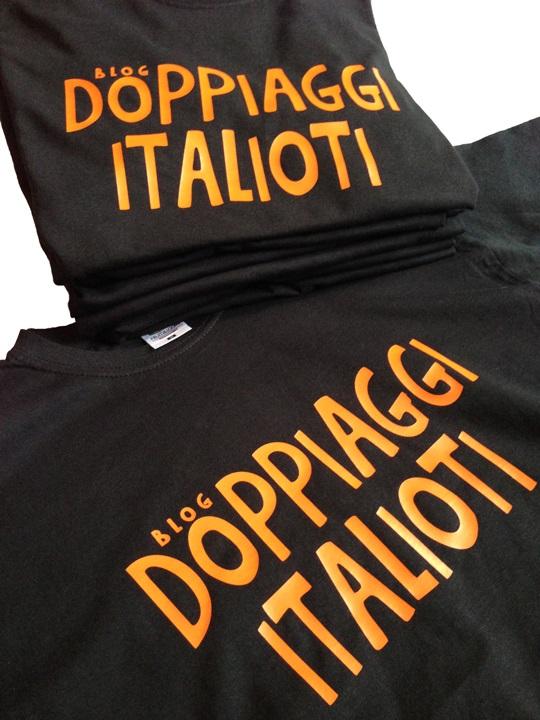 t-shirt con il logo del blog Doppiaggi Italioti