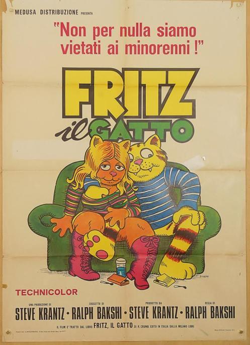 Locandina italiana di Fritz il gatto