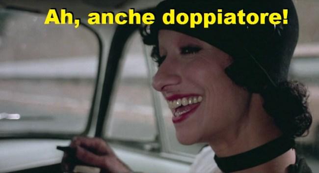Signorina silvani che dice ah, anche doppiatore. Variante del meme ah anche poeta. Dal film Fantozzi 1975