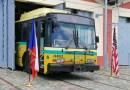 Ve vozovně Střešovice byl představen za přítomnosti pana Libora Hinčici trolejbus z Daytonu