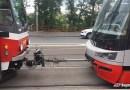 Z ARCHIVU: Porucha tramvaje na nábřeží Kapitána Jaroše v Praze