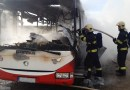 V Nehvizdech došlo k požáru autobusu Pražské integrované dopravy