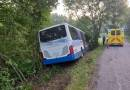 U Jiřína na Benešovsku ráno havaroval autobus