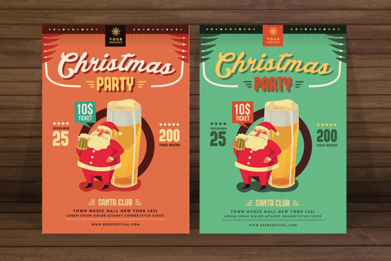 Christmas time advertising