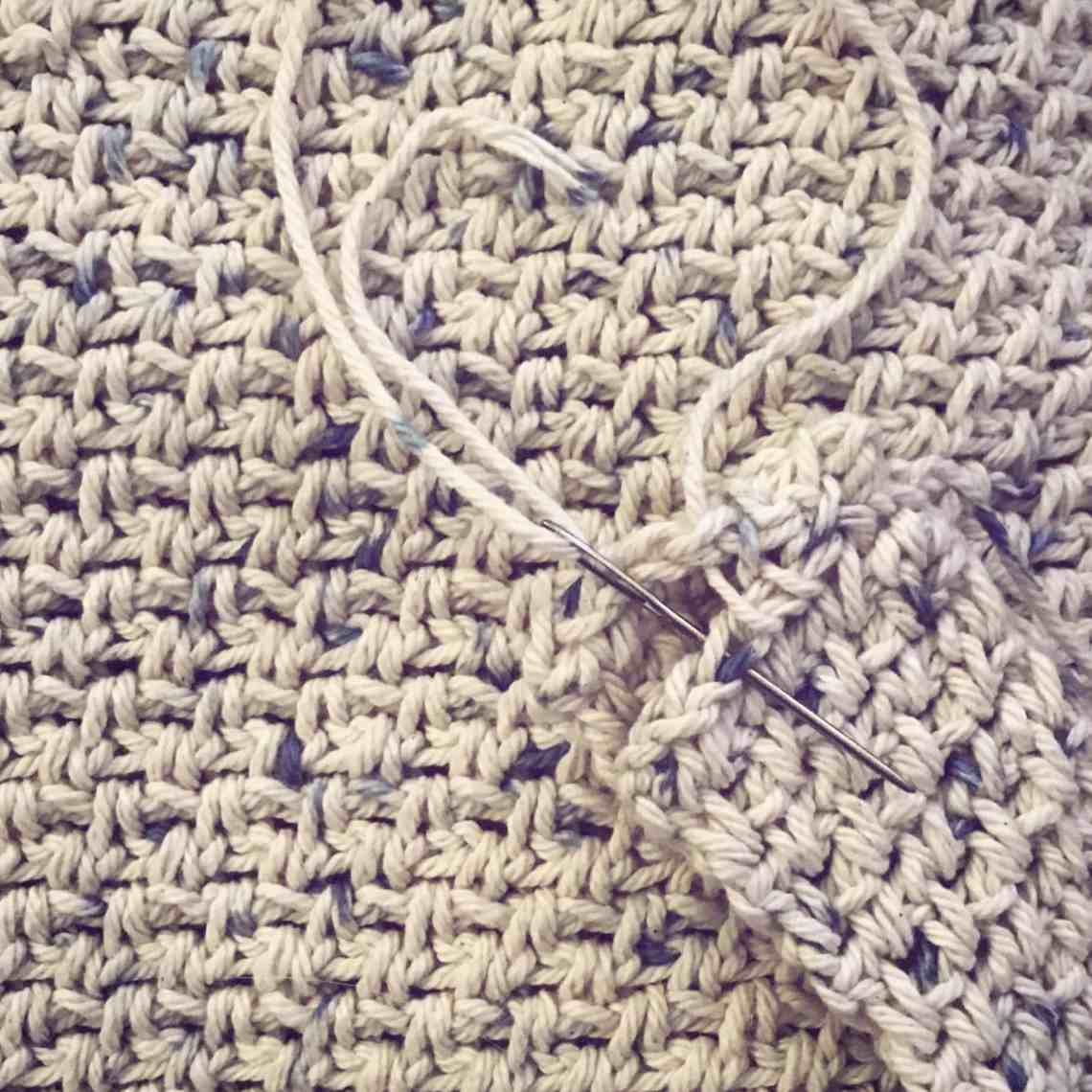 Crochet moss linen stitch cotton