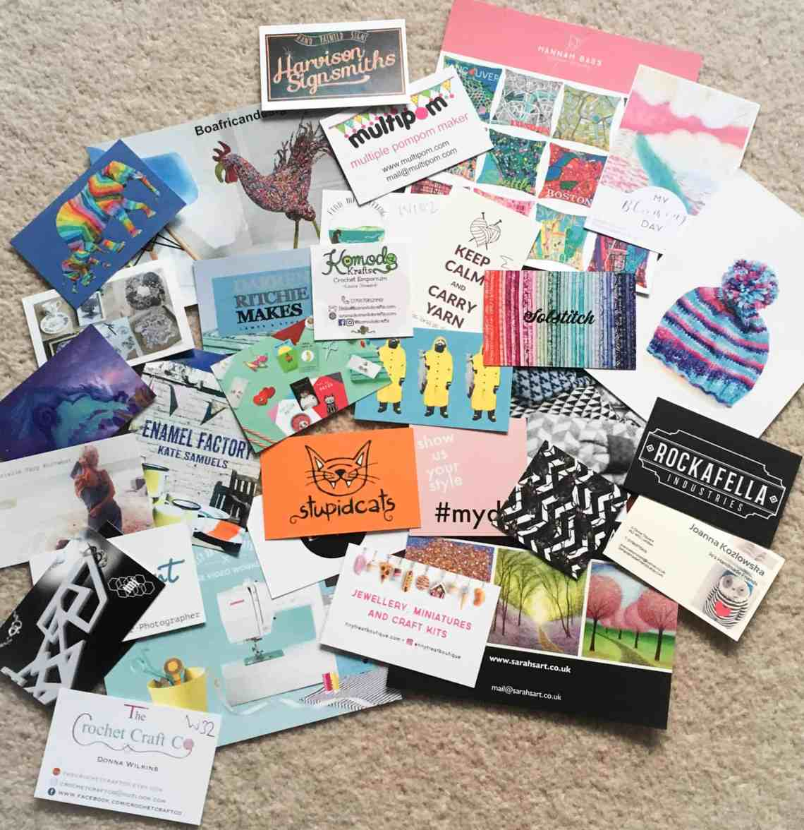 Dora Does' card collection from The Handmade Fair
