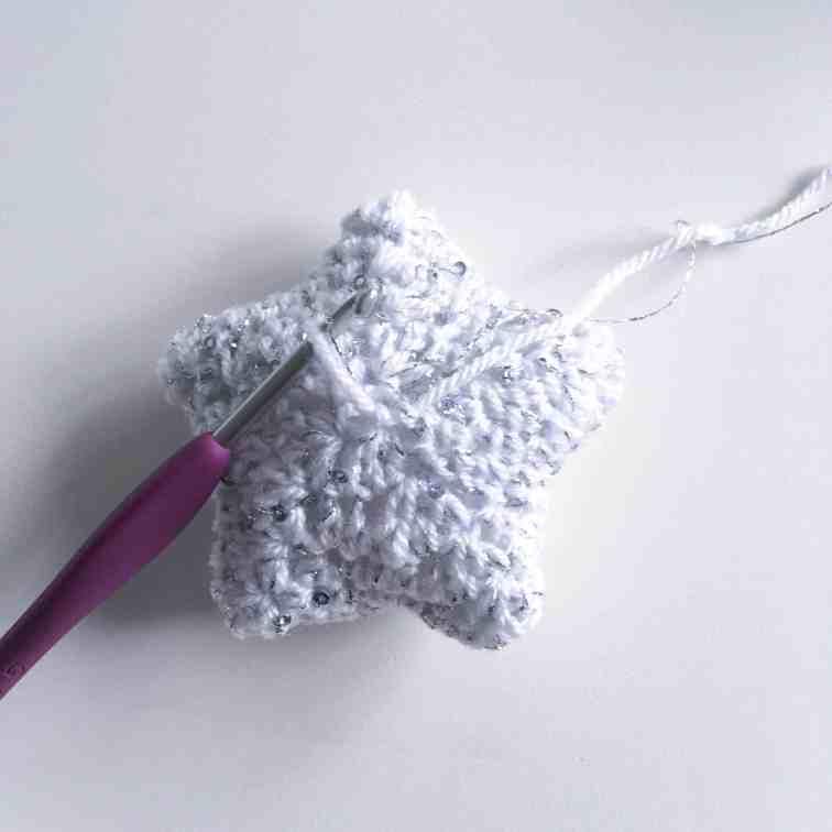 finishing crochet start white silver