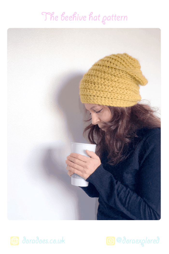 The Beehive Beanie Free Crochet Pattern Dora Does