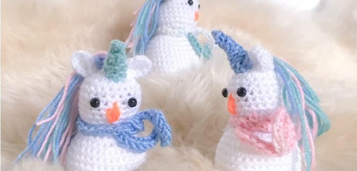 crochet amigurumi snowicorn