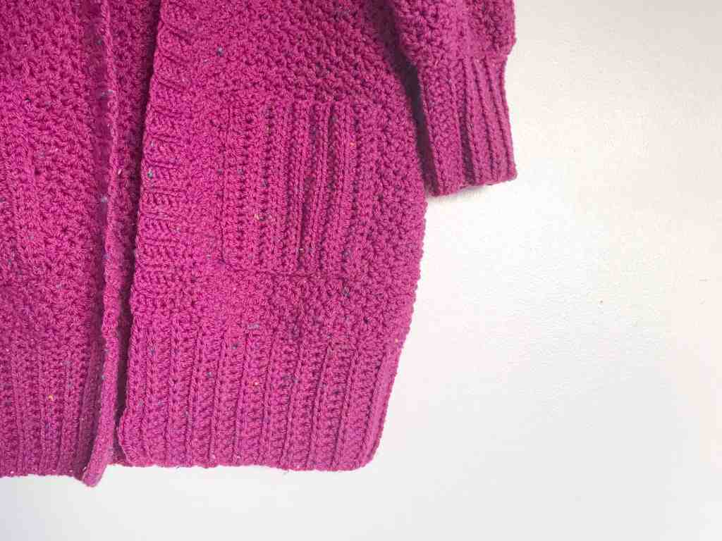 Pink Crochet Cardigan with pockets
