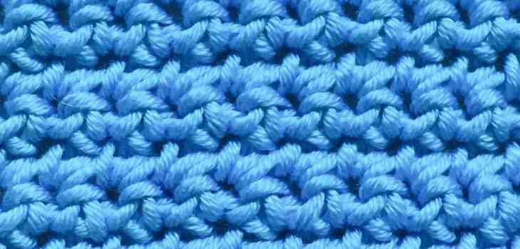 US single crochet, UK double Crochet stitch swatch
