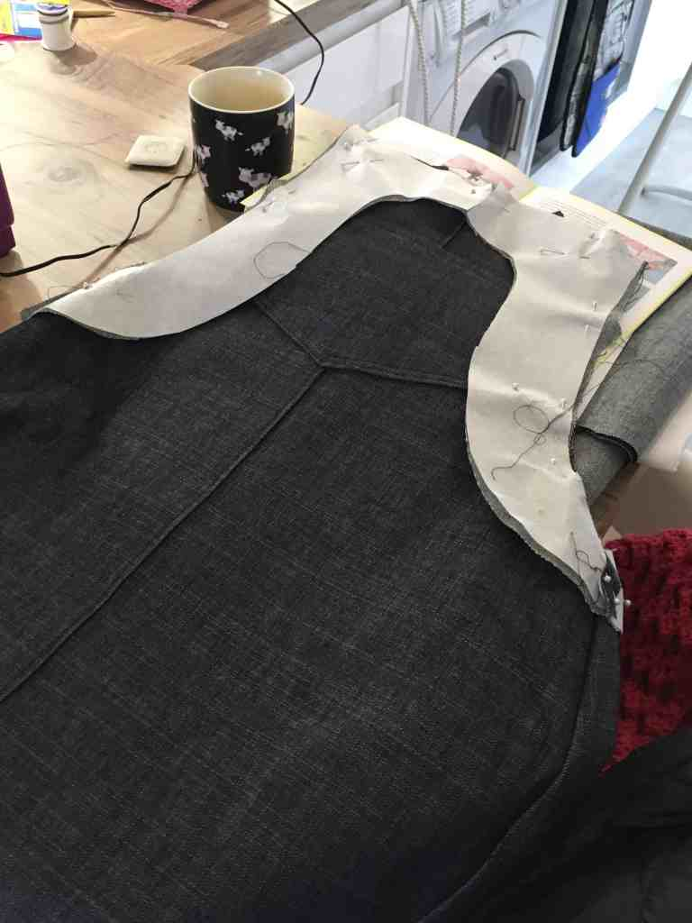 interfacing placed on front of dress