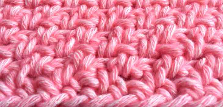 crochet moss stitch basic part 1 section of Maslow's rainbow cal