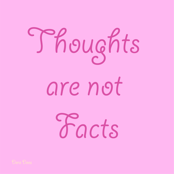 Thoughts are not facts quote