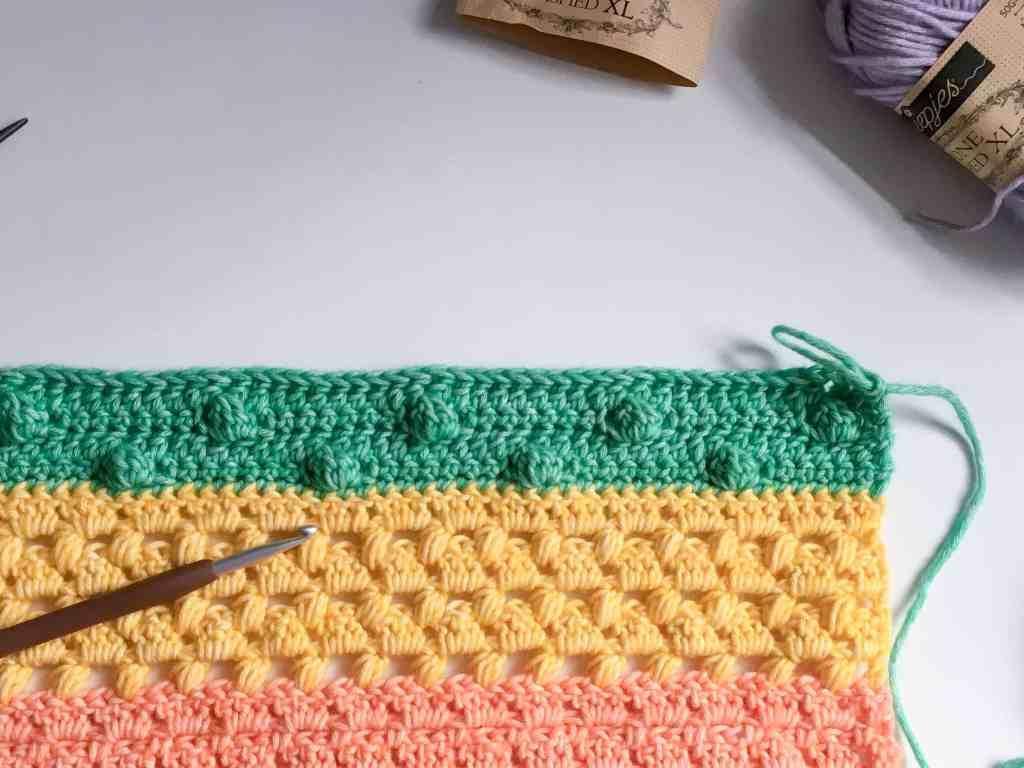 crochet fabric for rainbow crochet along