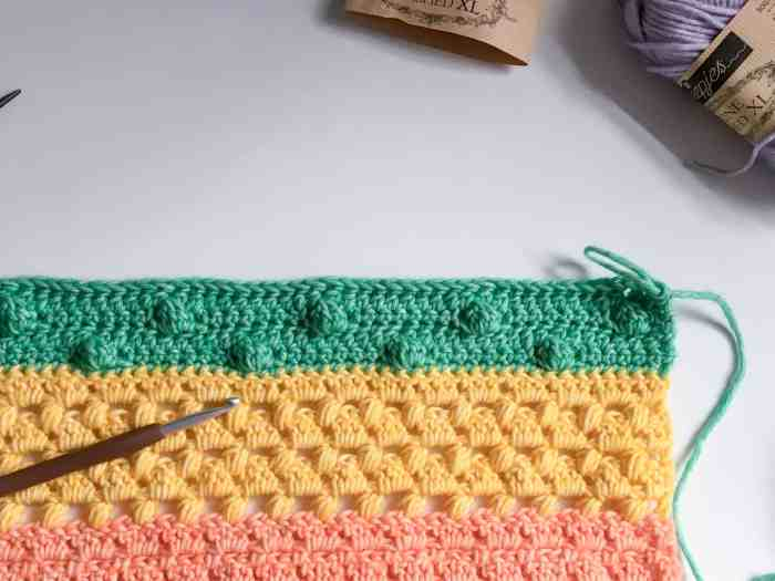 crochet fabric for rainbow crochet along