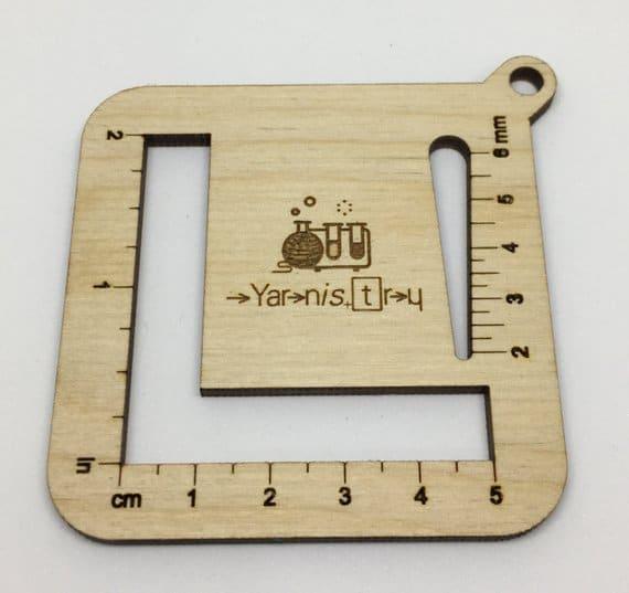 wooden yarnistry gauge measure
