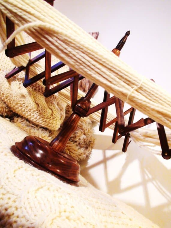 wooden yarn swift