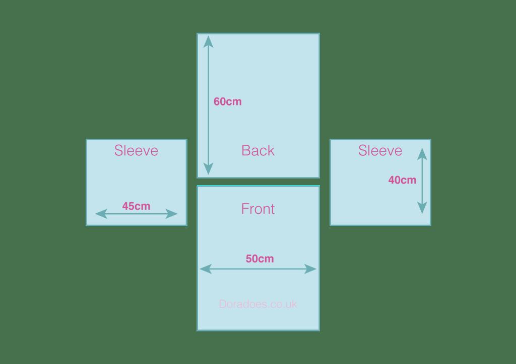 Basic drop shoulder sweater schematic
