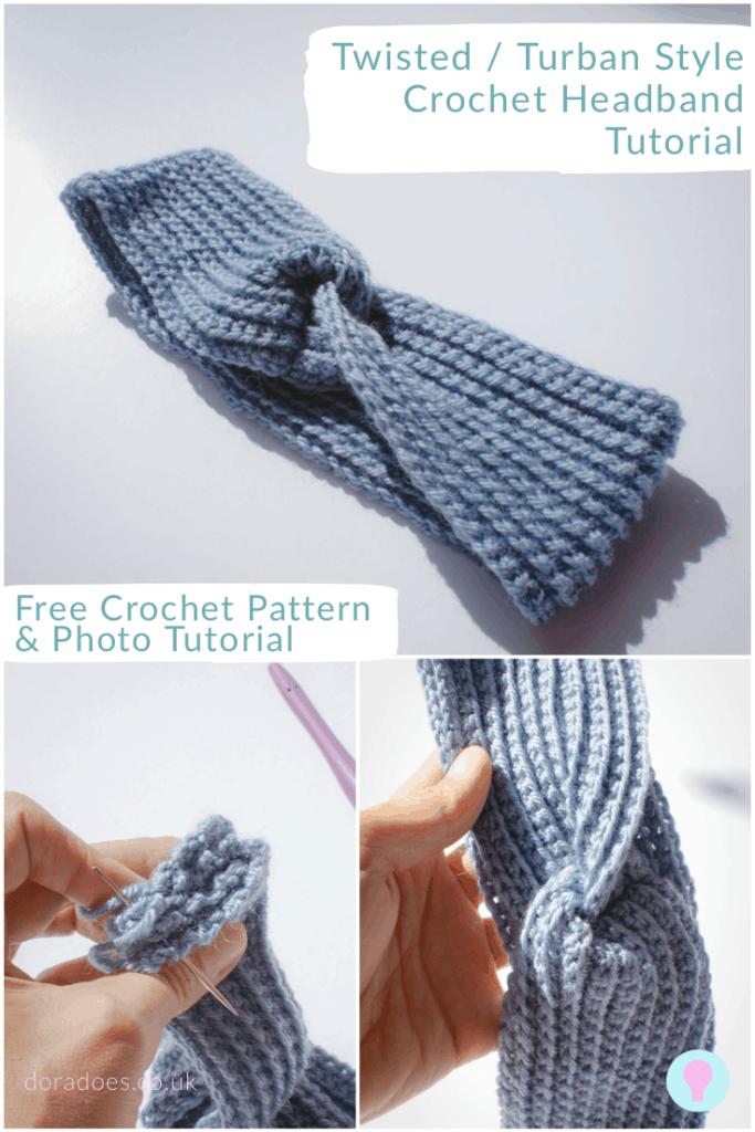 Crochet turban headband tutorial mages