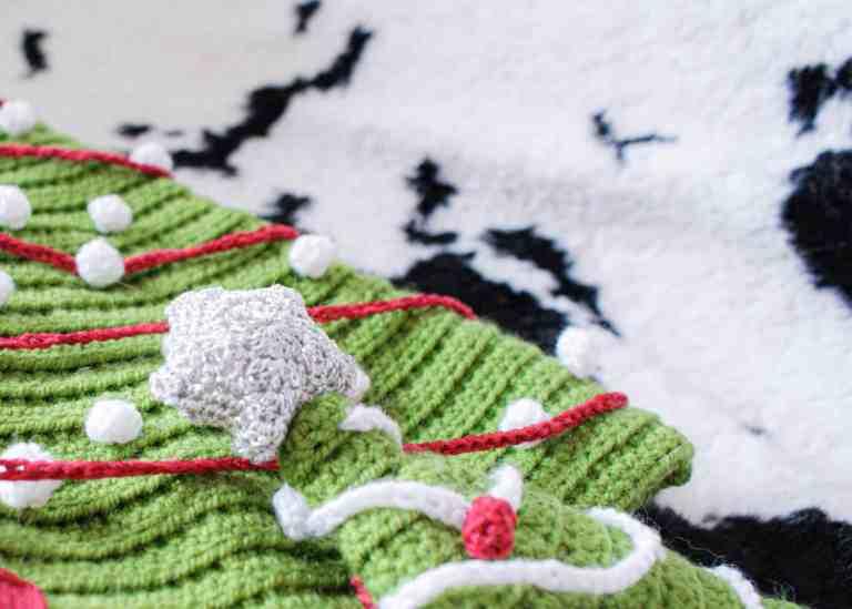 Crochet christmas tree star topper