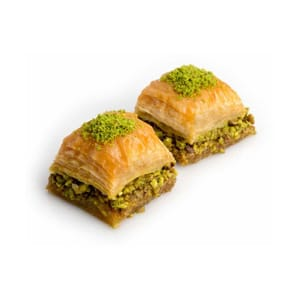 Traditional Dessert Baklava with Whole Pistachio Special