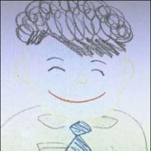 横澤夏子の旦那ダイキの似顔絵