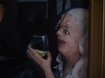 "detail, Mardi Gras, 2016, oil on canvas, 30"" x 40"""