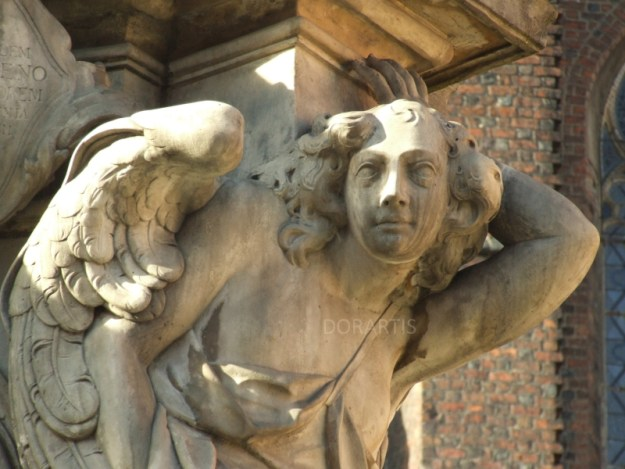 Angel sculpture, Wrocław