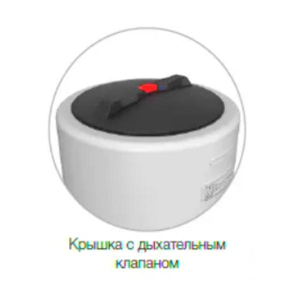 Крышка емкости ВД-400 (VD-400 л) оборудована дыхательным клапаном