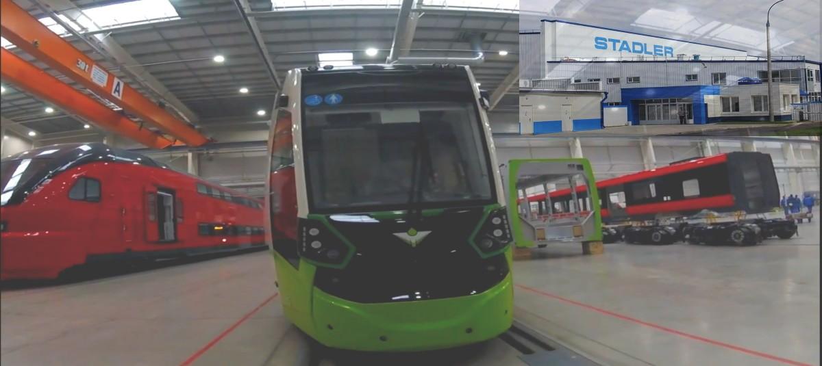 На территории города Фаниполь завод СП Штадлер-Минск по выпуску пассажирских поездоврасположен
