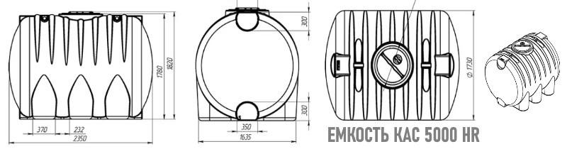 Технические характеристики емкости КАС 5000 HR для азотных удобрений. Минск