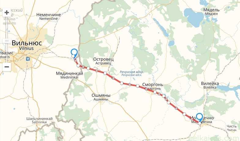 Запущено движение электропоездов между Литвой и Белоруссией