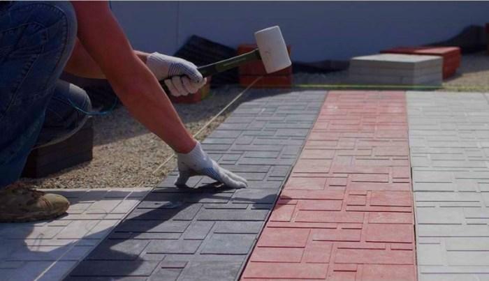 Правильная укладка полимерно-песчаной плитки
