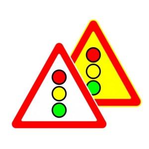 Знак дорожный 1.8 светофорное регулирование. фото. ПДД РФ, Беларуси