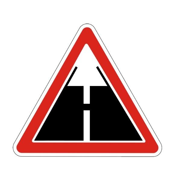 Знак дорожный 1.6 - Конец дороги с усовершенствованным покрытием