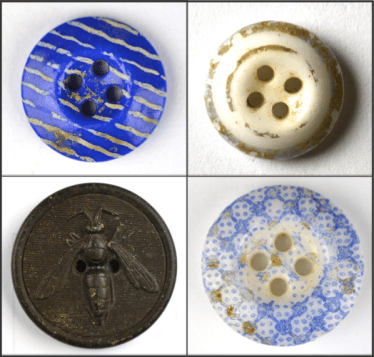 The dig site produced 33 unique button types. (Boston City Archaeology Program)