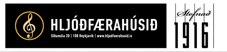 Hljóðfærahúsið með góðan stuðning.