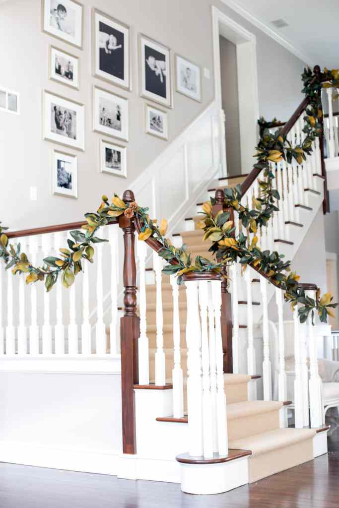 holiday stair decorating ideas
