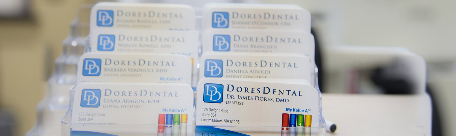 Business Cards at Dores Dental | Longmeadow, MA
