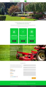 Visual Design for Landscaping Business (Photoshop)