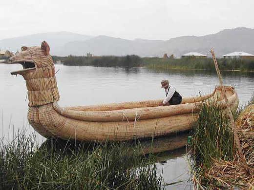 Titicacasee, Boot aus Rohrkolben