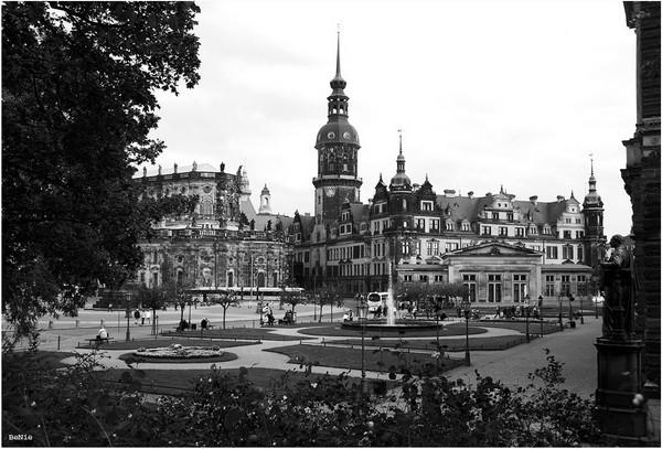 ungewohnter Blick auf Dresden
