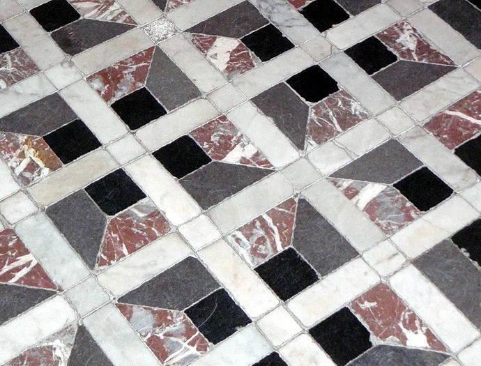 Fußbodendetail aus Rosenborg Slot in Kopenhagen