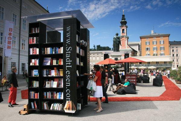 Eine Bibliothek unter freiem Himmel